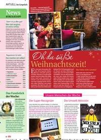 Titelbild der Ausgabe 51/2018 von News: KURZ & KNAPP. Zeitschriften als Abo oder epaper bei United Kiosk online kaufen.