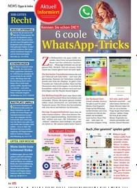 Titelbild der Ausgabe 51/2018 von Aktuell informiert: Kennen Sie schon DIE?! 6 coole : WhatsApp-Trick. Zeitschriften als Abo oder epaper bei United Kiosk online kaufen.