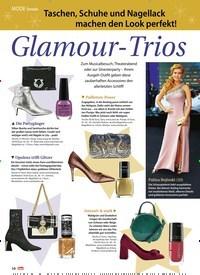 Titelbild der Ausgabe 52/2018 von Trends: Taschen, Schuhe und Nagellack machen den Look perfekt! Glamour-Trios. Zeitschriften als Abo oder epaper bei United Kiosk online kaufen.