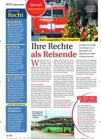 Titelbild der Ausgabe 52/2018 von Aktuell informiert: Bahn ausgefallen? Bus verspätet?: Ihre Rechte als Reisende. Zeitschriften als Abo oder epaper bei United Kiosk online kaufen.