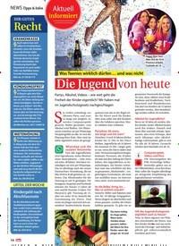 Titelbild der Ausgabe 1/2019 von NEWS Tipps & Infos: Aktuell informiert: Was Teenies wirklich dürfen … und was nicht: Die Jugend von heute. Zeitschriften als Abo oder epaper bei United Kiosk online kaufen.