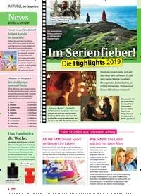 Titelbild der Ausgabe 2/2019 von Im Gespräch: Im Serienfieber! Die Highlights 2019. Zeitschriften als Abo oder epaper bei United Kiosk online kaufen.
