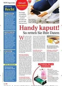 Titelbild der Ausgabe 2/2019 von News Tipps & Infos: Aktuell Informiert: Handy kaputt! So retten Sie Ihre Daten. Zeitschriften als Abo oder epaper bei United Kiosk online kaufen.