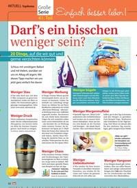 Titelbild der Ausgabe 3/2019 von Einfach besser leben! : Darf's ein bisschen weniger sein?. Zeitschriften als Abo oder epaper bei United Kiosk online kaufen.