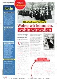 Titelbild der Ausgabe 3/2019 von 100 Jahre Frauen-Wahlrecht: Woher wir kommen, wohin wir wollen. Zeitschriften als Abo oder epaper bei United Kiosk online kaufen.