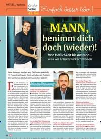 Titelbild der Ausgabe 5/2019 von Topthema: Große Serie 43. Teil: Einfach besser leben! MANN, benimm dich doch (wieder)!. Zeitschriften als Abo oder epaper bei United Kiosk online kaufen.