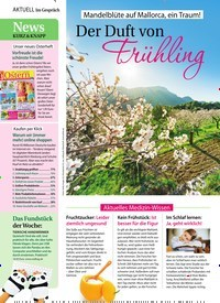 Titelbild der Ausgabe 8/2019 von Mandelblüte auf Mallorca, ein Traum!: Der Duft von Frühling. Zeitschriften als Abo oder epaper bei United Kiosk online kaufen.