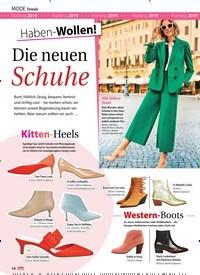 Titelbild der Ausgabe 8/2019 von Trends: Haben-Wollen!: Die neuen Schuhe. Zeitschriften als Abo oder epaper bei United Kiosk online kaufen.