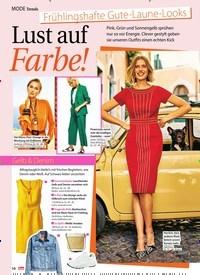 Titelbild der Ausgabe 9/2019 von Trends: Frühlingshafte Gute -Laune –Looks: Lust auf Farbe!. Zeitschriften als Abo oder epaper bei United Kiosk online kaufen.