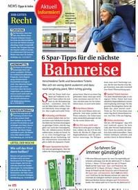 Titelbild der Ausgabe 9/2019 von Tipps & Infos: 6 Spar-Tipps für die nächste: Bahnreise. Zeitschriften als Abo oder epaper bei United Kiosk online kaufen.