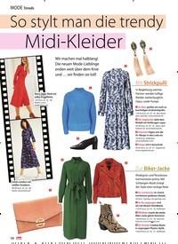 Titelbild der Ausgabe 10/2019 von Trends: So stylt man die trendy Midi-Kleider. Zeitschriften als Abo oder epaper bei United Kiosk online kaufen.