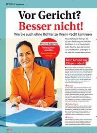 Titelbild der Ausgabe 13/2019 von Topthema: Vor Gericht? Besser nicht!. Zeitschriften als Abo oder epaper bei United Kiosk online kaufen.