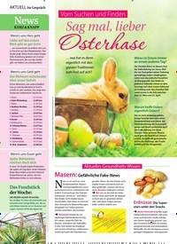 Titelbild der Ausgabe 15/2019 von Im Gespräch: Vom Suchen und Finden: Sag mal, lieber Osterhase. Zeitschriften als Abo oder epaper bei United Kiosk online kaufen.