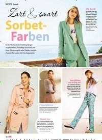Titelbild der Ausgabe 15/2019 von Trends: Zart & smart: Sorbet-Farben. Zeitschriften als Abo oder epaper bei United Kiosk online kaufen.