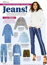 Titelbild der Ausgabe 20/2019 von Trends: Neue Formen, neue Farben – das ist Trend: Jeans!. Zeitschriften als Abo oder epaper bei United Kiosk online kaufen.