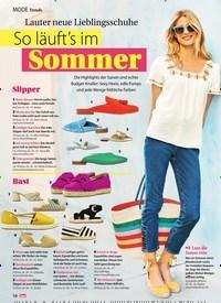 Titelbild der Ausgabe 26/2019 von Trends: Lauter neue Lieblingsschuhe So läuft's im Sommer. Zeitschriften als Abo oder epaper bei United Kiosk online kaufen.
