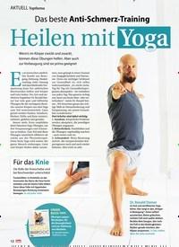 Titelbild der Ausgabe 26/2019 von Topthema: Das beste Anti-Schmerz-Training: Heilen mit Yoga. Zeitschriften als Abo oder epaper bei United Kiosk online kaufen.
