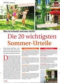Titelbild der Ausgabe 28/2019 von Die 20 wichtigsten Sommer-Urteile. Zeitschriften als Abo oder epaper bei United Kiosk online kaufen.