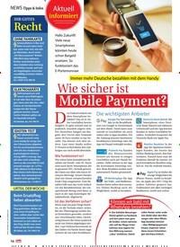 Titelbild der Ausgabe 28/2019 von Wie sicher ist Mobile Payment?. Zeitschriften als Abo oder epaper bei United Kiosk online kaufen.