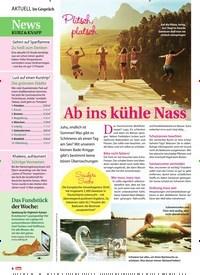 Titelbild der Ausgabe 30/2019 von Plitsch, platsch: Ab ins kühle Nass. Zeitschriften als Abo oder epaper bei United Kiosk online kaufen.