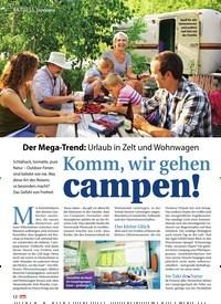 Titelbild der Ausgabe 30/2019 von Topthema: Komm, wir gehen campen!. Zeitschriften als Abo oder epaper bei United Kiosk online kaufen.