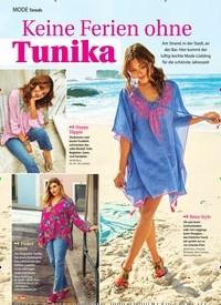 Titelbild der Ausgabe 32/2019 von MODE Trends: Keine Ferien ohne Tunika. Zeitschriften als Abo oder epaper bei United Kiosk online kaufen.