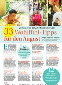 Titelbild der Ausgabe 32/2019 von AKTUELL Topthema: Zu Hause, bei der Arbeit und unterwegs: 33 Wohlfühl-Tipps für den August. Zeitschriften als Abo oder epaper bei United Kiosk online kaufen.