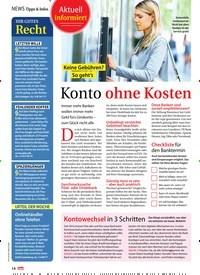 Titelbild der Ausgabe 32/2019 von Aktuell informiert: Keine Gebühren? So geht's: Konto ohne Kosten. Zeitschriften als Abo oder epaper bei United Kiosk online kaufen.