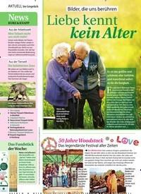 Titelbild der Ausgabe 34/2019 von Bilder, die uns berühren: Liebe kennt kein Alter. Zeitschriften als Abo oder epaper bei United Kiosk online kaufen.