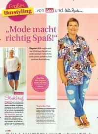 """Titelbild der Ausgabe 34/2019 von Großes Umstyling: von und ulla popken: """"Mode macht richtig Spaß!"""". Zeitschriften als Abo oder epaper bei United Kiosk online kaufen."""