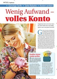 Titelbild der Ausgabe 34/2019 von Wenig Aufwand – volles Konto. Zeitschriften als Abo oder epaper bei United Kiosk online kaufen.