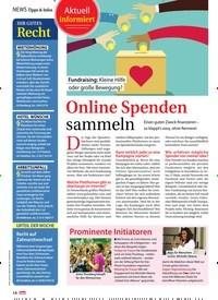 Titelbild der Ausgabe 35/2019 von NEWS Tipps & Infos: Online Spenden sammeln. Zeitschriften als Abo oder epaper bei United Kiosk online kaufen.