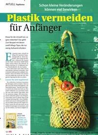 Titelbild der Ausgabe 36/2019 von Topthema: Plastik vermeiden für Anfänger. Zeitschriften als Abo oder epaper bei United Kiosk online kaufen.