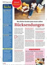 Titelbild der Ausgabe 37/2019 von Aktuell informiert: Rücksendungen. Zeitschriften als Abo oder epaper bei United Kiosk online kaufen.