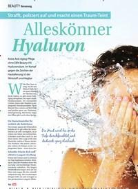 Titelbild der Ausgabe 37/2019 von Beratung: Alleskönner Hyaluron. Zeitschriften als Abo oder epaper bei United Kiosk online kaufen.