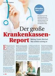 Titelbild der Ausgabe 38/2019 von Topthema: Der große Krankenkassen- Report. Zeitschriften als Abo oder epaper bei United Kiosk online kaufen.
