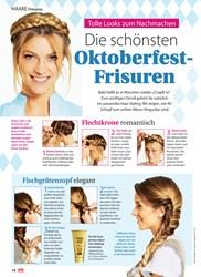 Titelbild der Ausgabe 38/2019 von HAARE Frisuren: Die schönsten Oktoberfest- Frisuren. Zeitschriften als Abo oder epaper bei United Kiosk online kaufen.