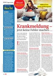 Titelbild der Ausgabe 39/2019 von Tipps & Infos: Aktuell informiert: Krankmeldung – jetzt keine Fehler machen …. Zeitschriften als Abo oder epaper bei United Kiosk online kaufen.