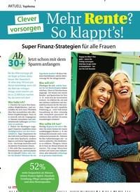 Titelbild der Ausgabe 43/2019 von Mehr Rente? So klappt's. Zeitschriften als Abo oder epaper bei United Kiosk online kaufen.