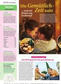 Titelbild der Ausgabe 44/2019 von Die Gemütlich-Zeit naht. Zeitschriften als Abo oder epaper bei United Kiosk online kaufen.