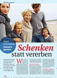 Titelbild der Ausgabe 45/2019 von AKTUELL Topthema: Streit vermeiden, Steuern Sparen: Schenken statt vererben. Zeitschriften als Abo oder epaper bei United Kiosk online kaufen.