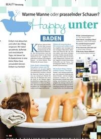 Titelbild der Ausgabe 45/2019 von Beratung: Warme Wanne oder prasselnder Schauer? Happy unter Wasser. Zeitschriften als Abo oder epaper bei United Kiosk online kaufen.