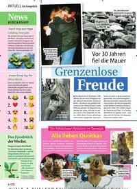 Titelbild der Ausgabe 46/2019 von Vor 30 Jahren fiel die Mauer: Grenzenlose Freude. Zeitschriften als Abo oder epaper bei United Kiosk online kaufen.