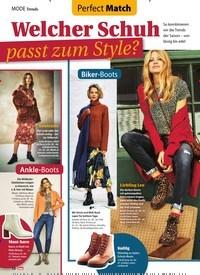 Titelbild der Ausgabe 46/2019 von Perfect Match: Welcher Schuh passt zum Style?. Zeitschriften als Abo oder epaper bei United Kiosk online kaufen.