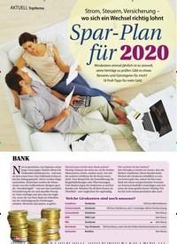 Titelbild der Ausgabe 51/2019 von Topthema: Strom, Steuern, Versicherung – wo sich ein Wechsel richtig lohnt: Spar-Plan für 2020. Zeitschriften als Abo oder epaper bei United Kiosk online kaufen.