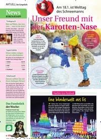 Titelbild der Ausgabe 4/2020 von Unser Freund mit der Karotten-Nase: Am 18.1. ist Welttag des Schneemanns. Zeitschriften als Abo oder epaper bei United Kiosk online kaufen.
