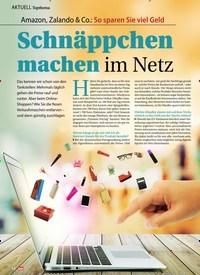 Titelbild der Ausgabe 6/2020 von Topthema: Amazon, Zalando & Co.: So sparen Sie viel Geld: Schnäppchen machen im Netz. Zeitschriften als Abo oder epaper bei United Kiosk online kaufen.