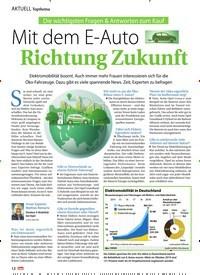 Titelbild der Ausgabe 8/2020 von Mit dem E-Auto Richtung Zukunft. Zeitschriften als Abo oder epaper bei United Kiosk online kaufen.