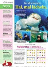 Titelbild der Ausgabe 9/2020 von Die Selfie-Mutprobe Hai, mal lächeln, bitte!. Zeitschriften als Abo oder epaper bei United Kiosk online kaufen.