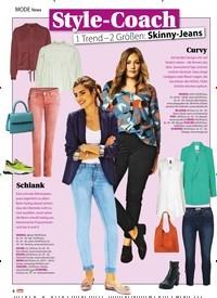 Titelbild der Ausgabe 11/2020 von MODE News: Style-Coach 1 Trend – 2 Größen: Skinny-Jeans. Zeitschriften als Abo oder epaper bei United Kiosk online kaufen.